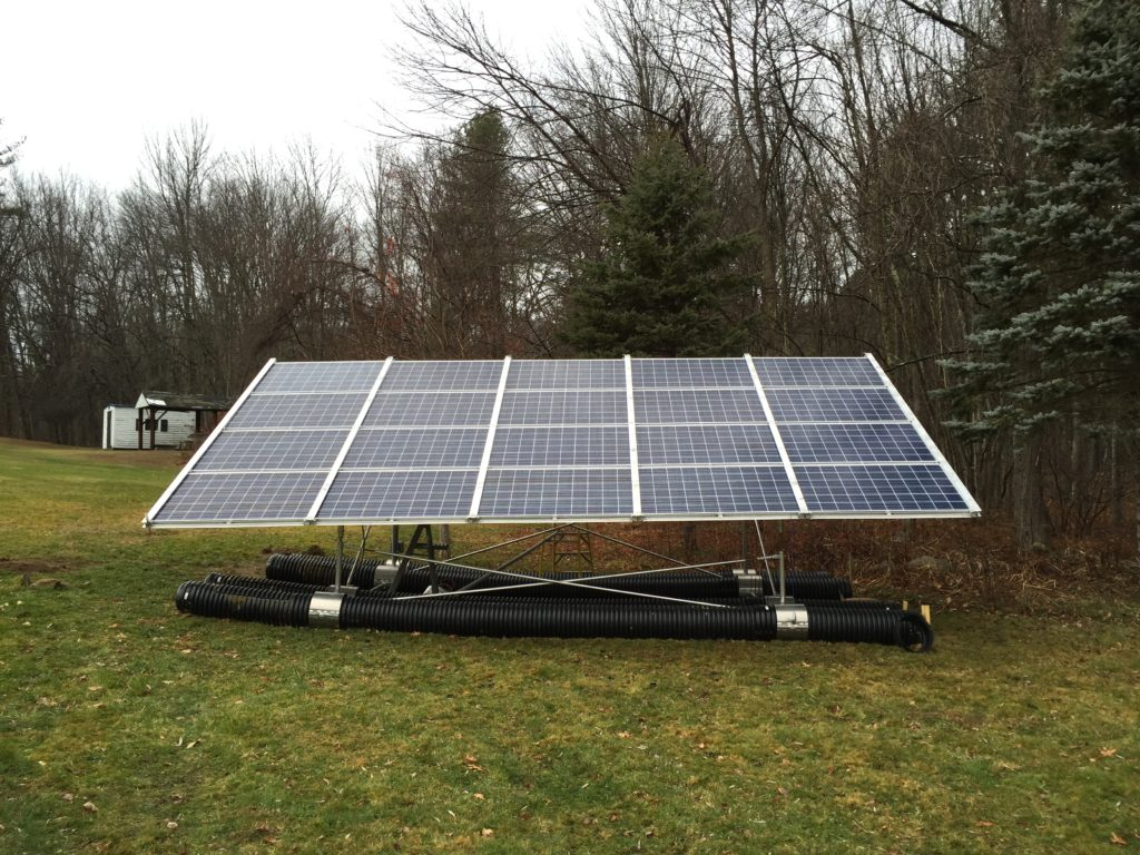 Introducing the Home Solar Garden for residential solar using the  surface ballast system from Landfill Solar.